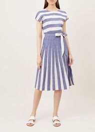 Aria Dress, Blue White, hi-res