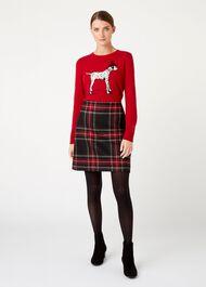 Elea Wool Skirt, Black Multi, hi-res