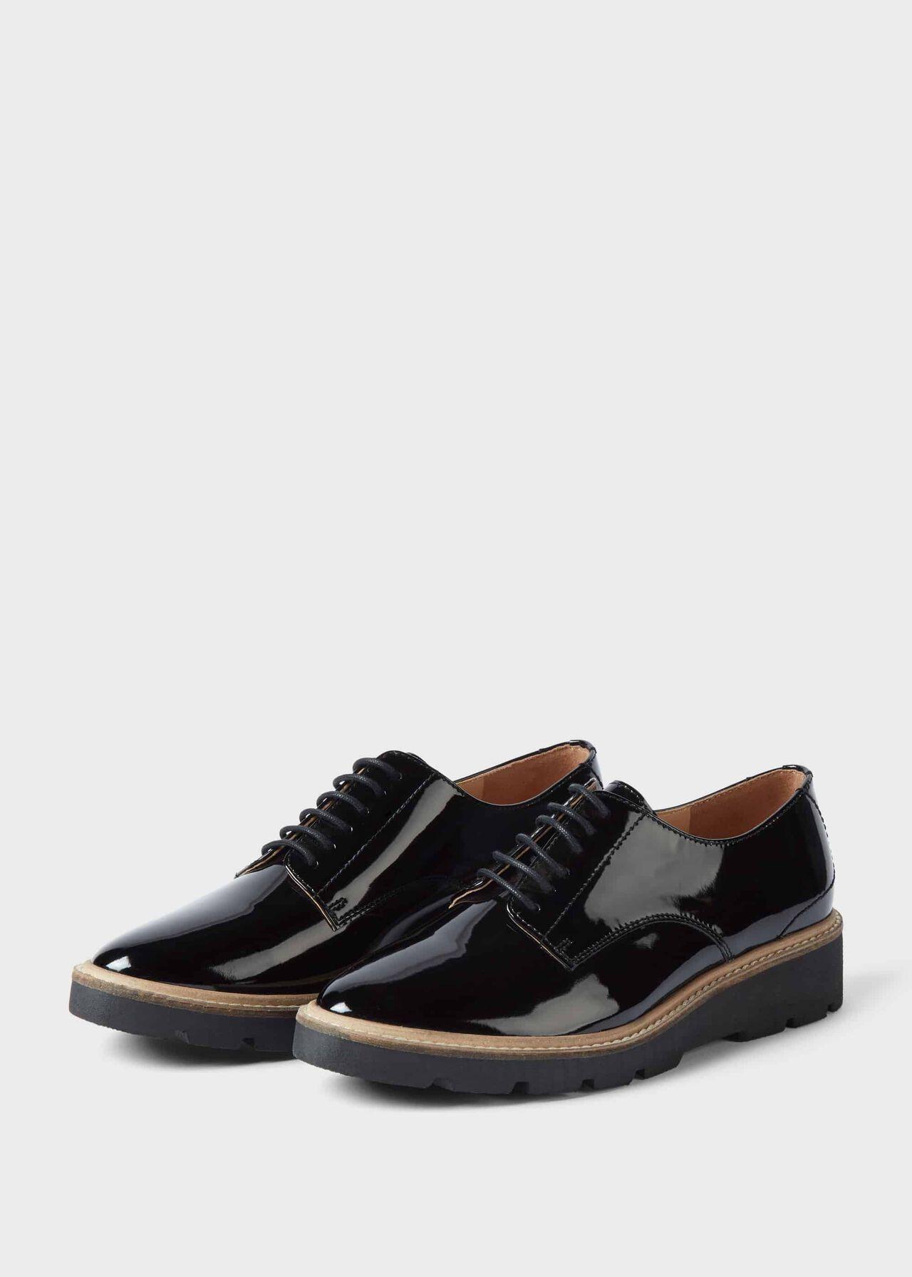 Bloomsbury Patent Flat Shoes Black