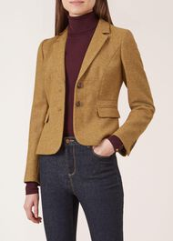 Hackness Wool Jacket, Saffron, hi-res