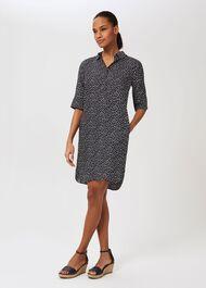 Marciella Dress, Navy Ivory, hi-res