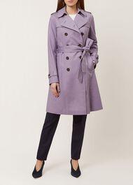 Saskia Trench Coat, Lilac, hi-res