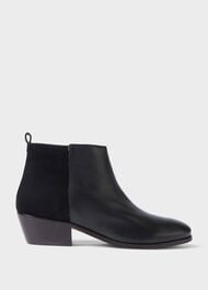 Alice Leather Ankle Boots, Black, hi-res