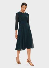 Mimi Printed Dress, Pine Green, hi-res