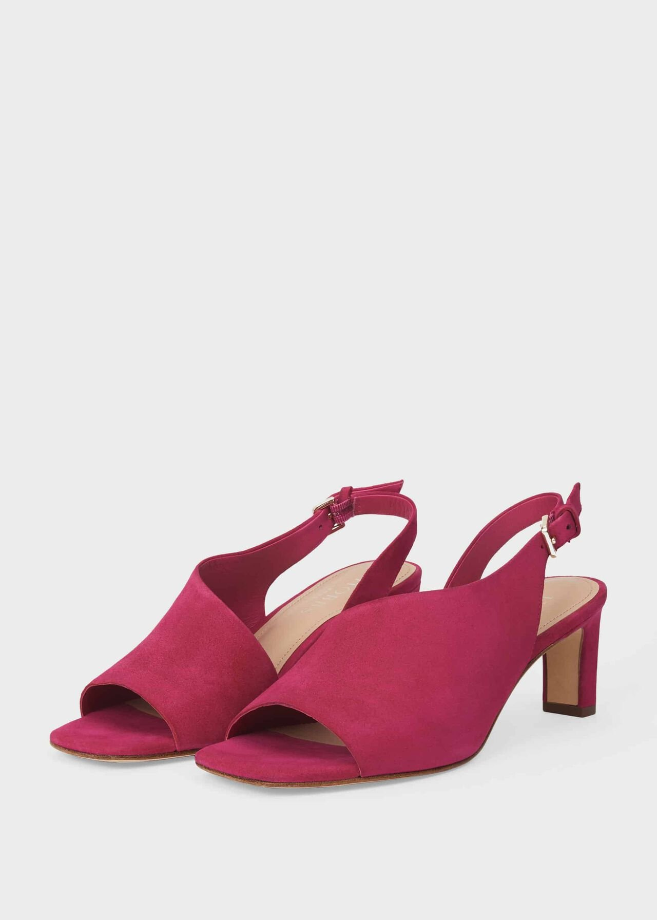 Kate Suede Sandals Fuchsia