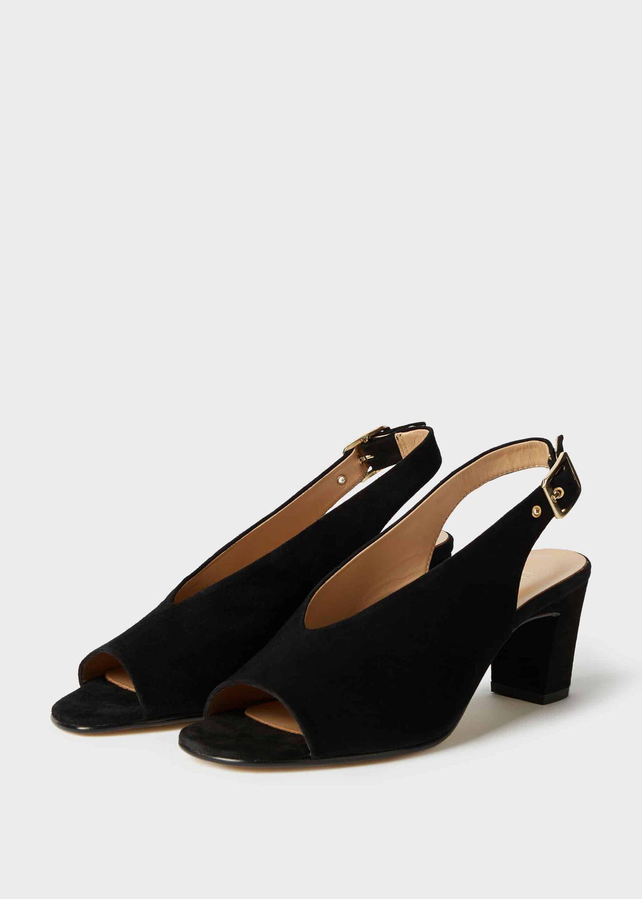 Kali Suede Block Heel Sandals Black