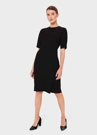 Jolie Shift Dress, Black, hi-res