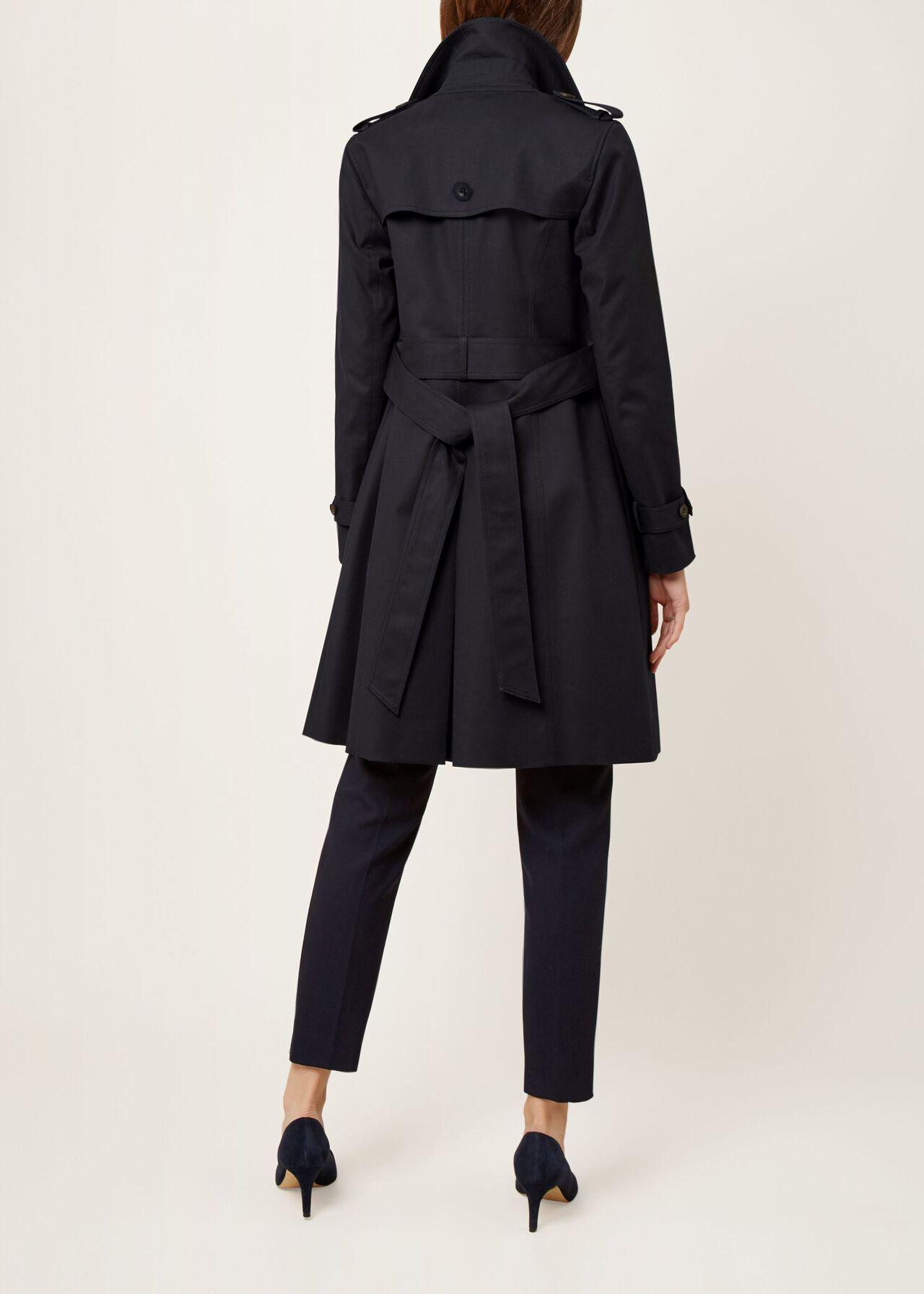 Saskia Trench Coat, Navy, hi-res