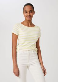 Sonya Striped Top, Yellow Ivory, hi-res