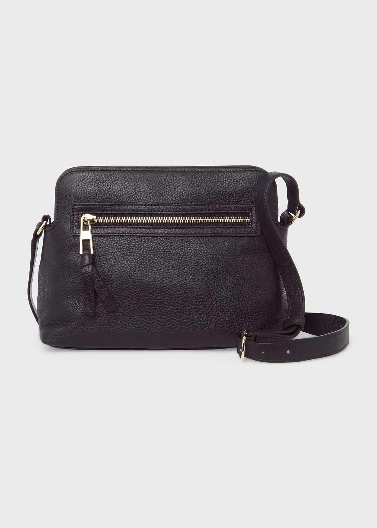 Hampton Leather Crossbody Bag, Navy, hi-res