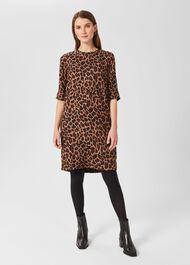 Iza Tunic Dress, Camel Multi, hi-res