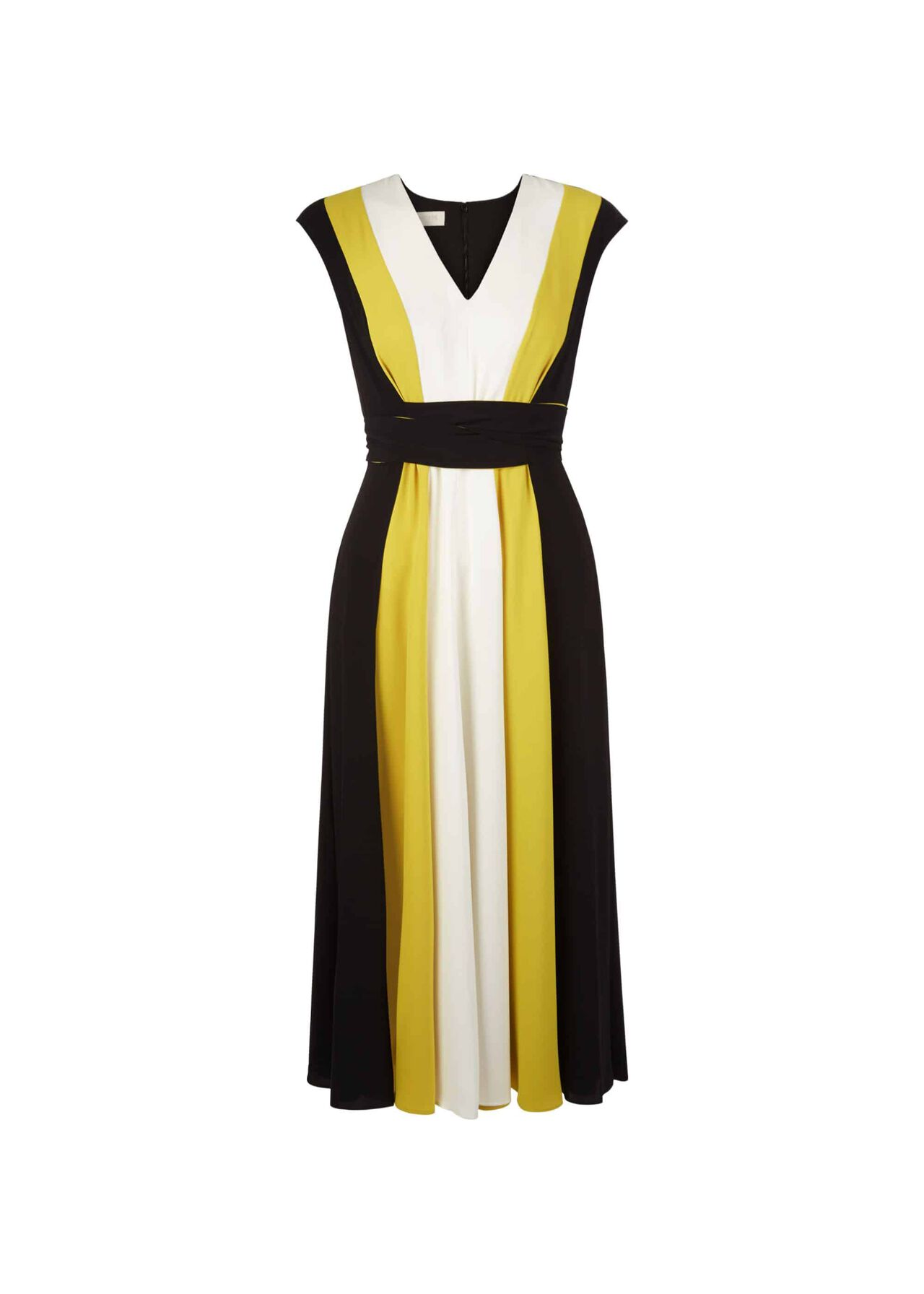 Bailly Dress Blk Chartreuse