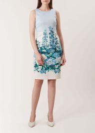 Hydrangea Shift Dress, Blue Multi, hi-res