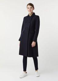 Petite Corrine Wool Blend Coat, Navy, hi-res