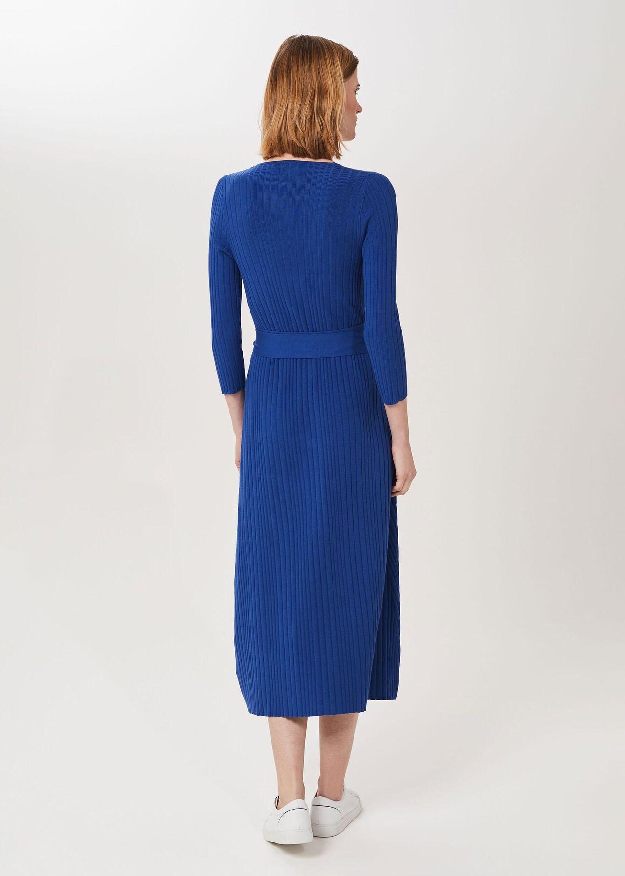 Sydney Knitted Dress, Ocean Blue, hi-res