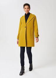 Carmina Wool Blend Coat, Light Ochre, hi-res
