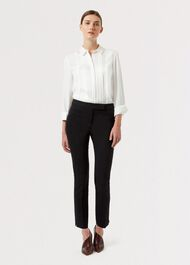 Petite Annie Slim trousers, Black, hi-res