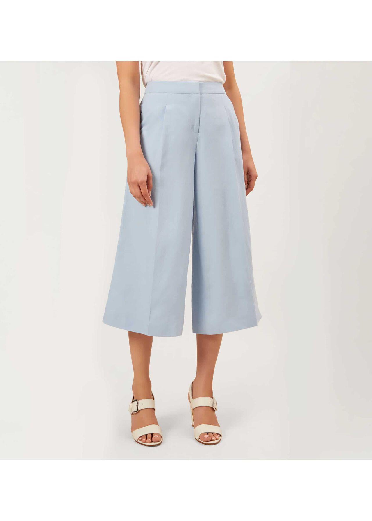 Layla Linen Blend Trousers Mist Blue