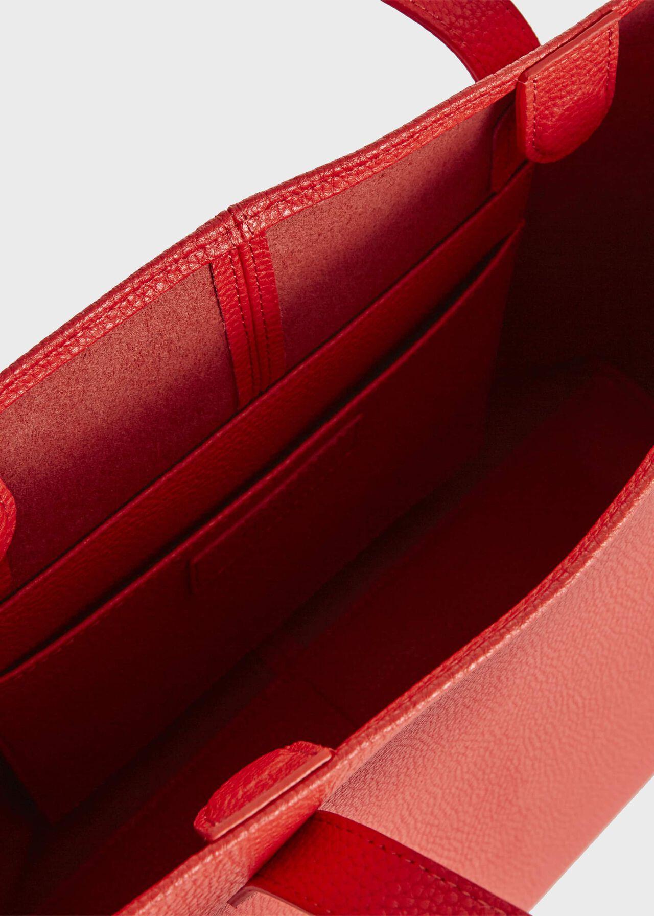 Ashwell Leather Tote Bag, Hot Orange, hi-res
