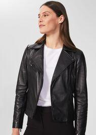 Dakota Leather Jacket, Black, hi-res
