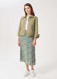 Annette Floral Midi Skirt, Green Multi, hi-res