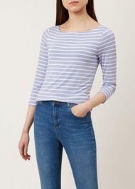 Striped Sonya Top, Lilac White, hi-res