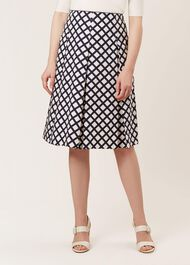 Pippa Skirt, Navy White, hi-res