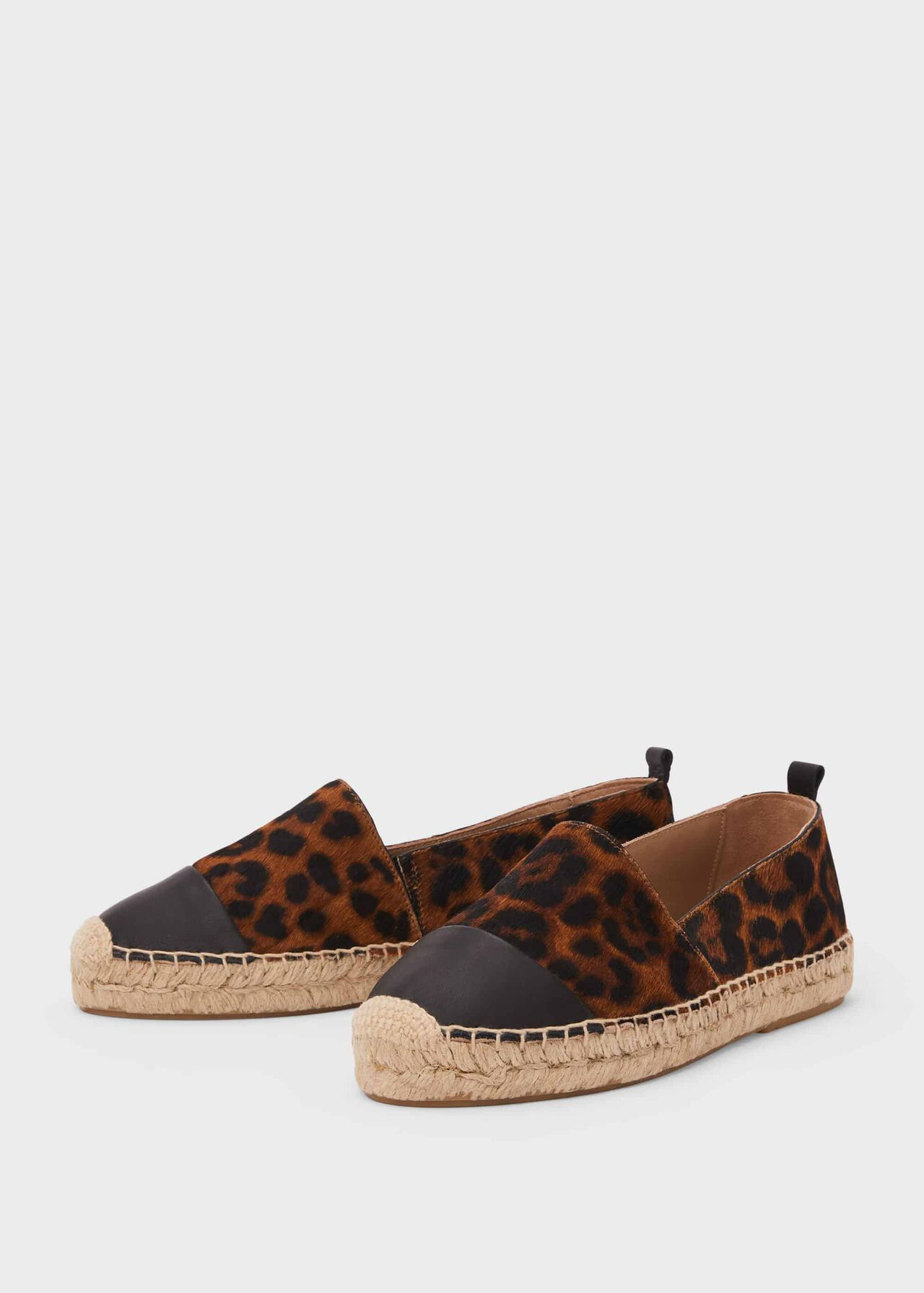 Philippa Leather Flatform Espadrille Leopard