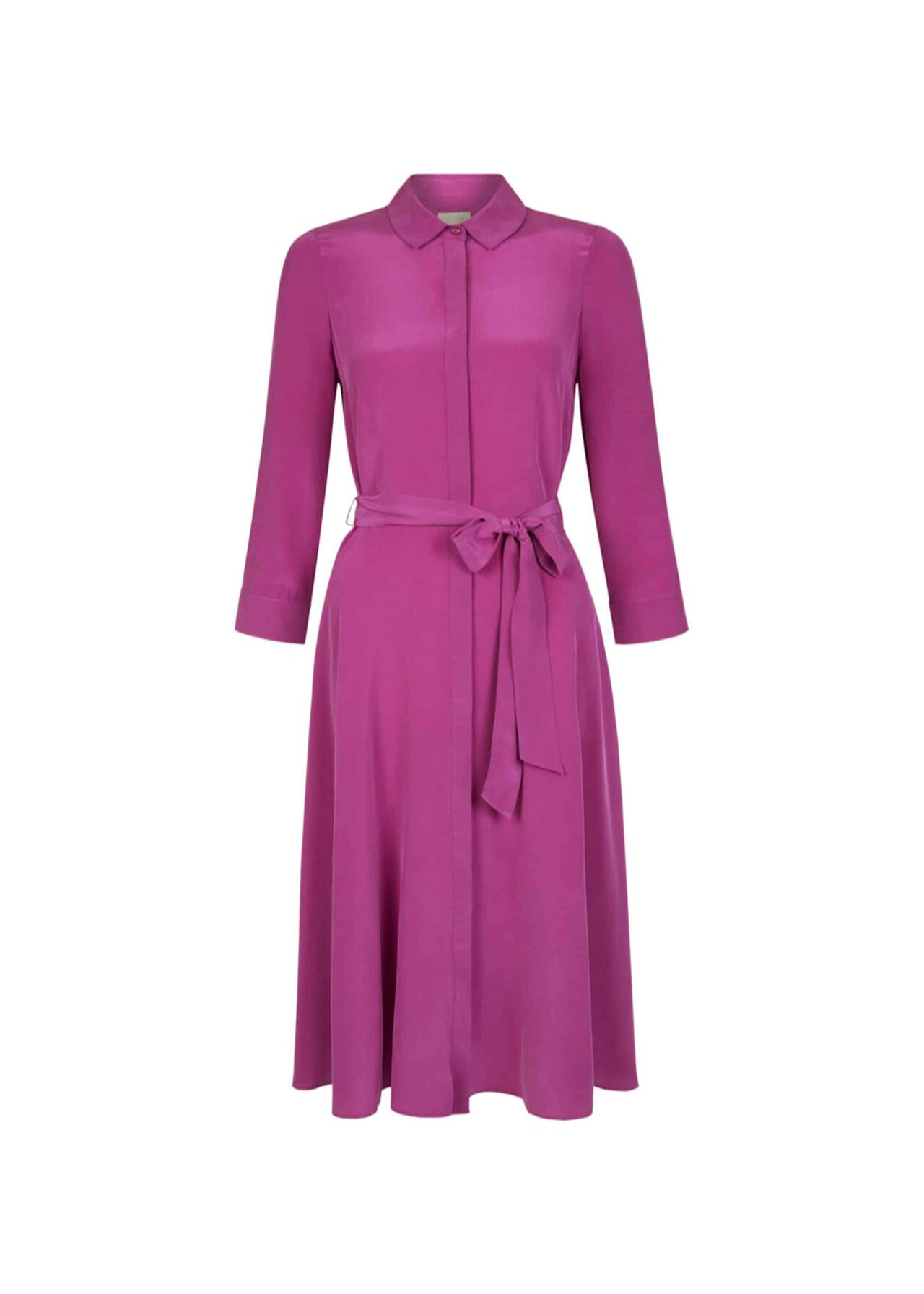 Silk Lainey Dress Deep Orchid
