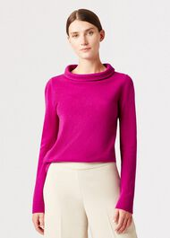 Audrey Wool Cashmere Sweater, Purple, hi-res