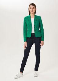 Hackness Cotton Blend Jacket, Green, hi-res