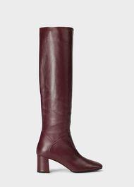 Imogen Knee Boot, Burgundy, hi-res