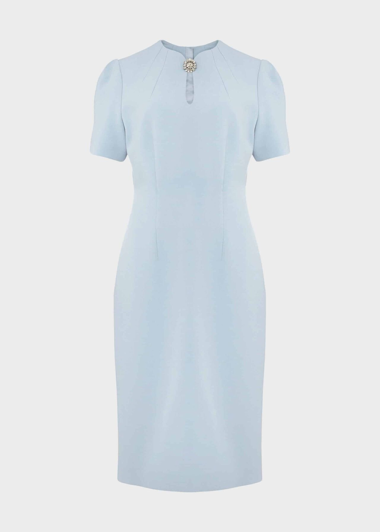 Ana Crepe Shift Dress Celeste Blue