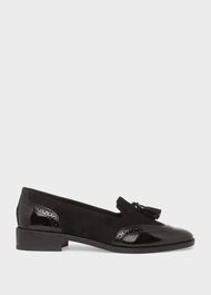 Bryony Patent Loafers, Black, hi-res