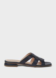 Alexandra Leather Sandals, Navy, hi-res