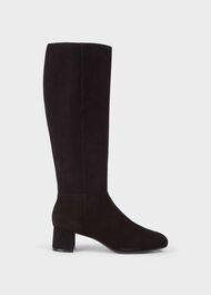 Hailey Flexi Knee Boot, Black, hi-res