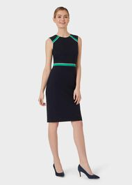 Nala Dress, Navy Green Ivry, hi-res