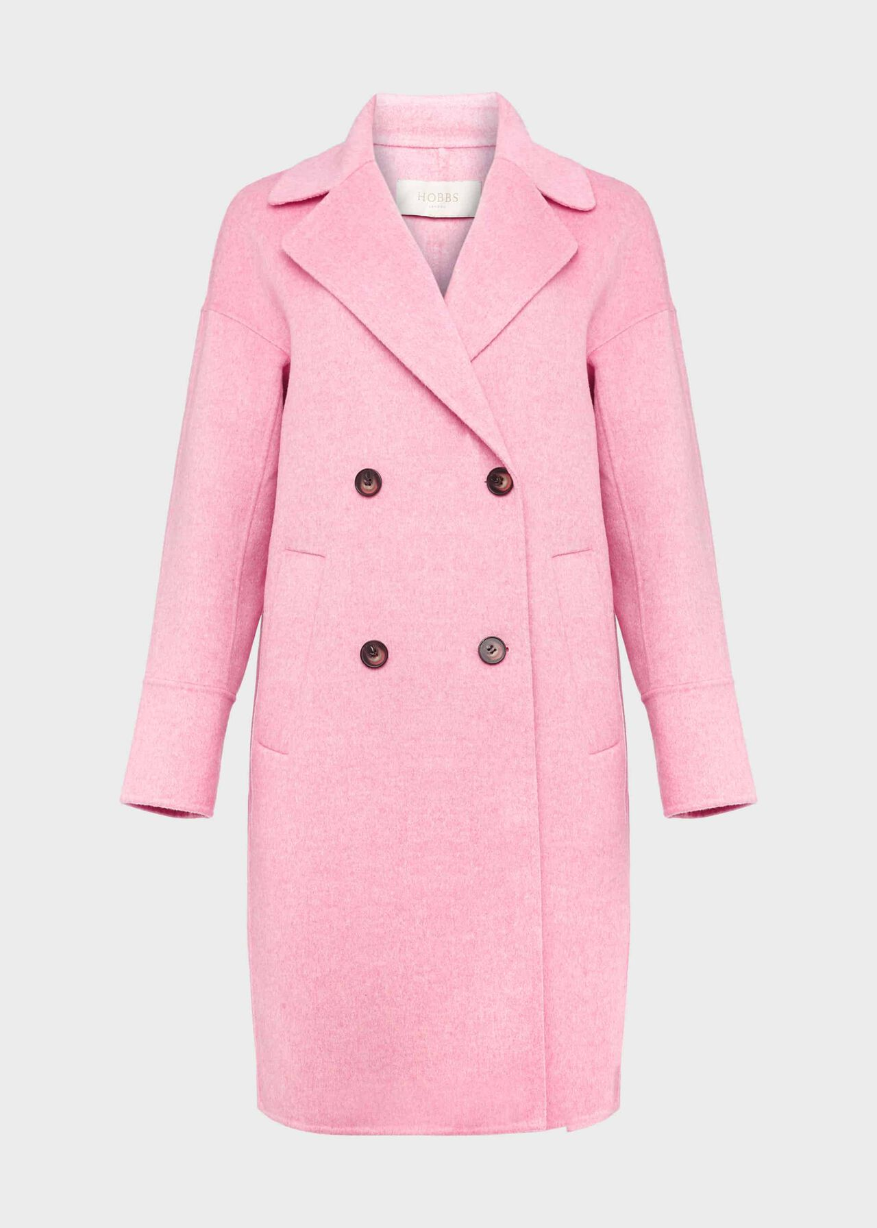 Sylvie Wool Blend Double Face Coat Pink Marl