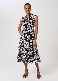 Esme Floral Shirt Dress, Navy Multi, hi-res