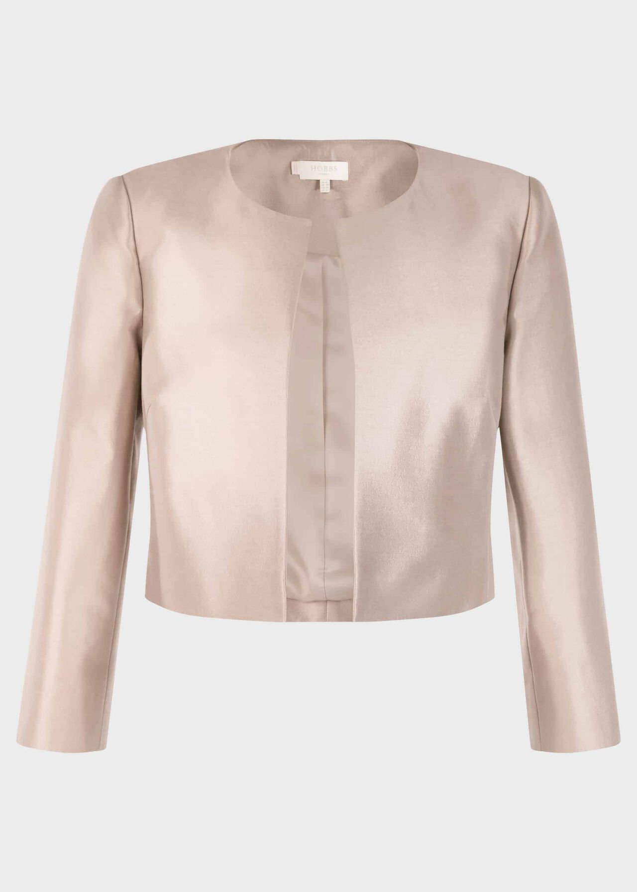 Christie Silk Wool Jacket Oyster