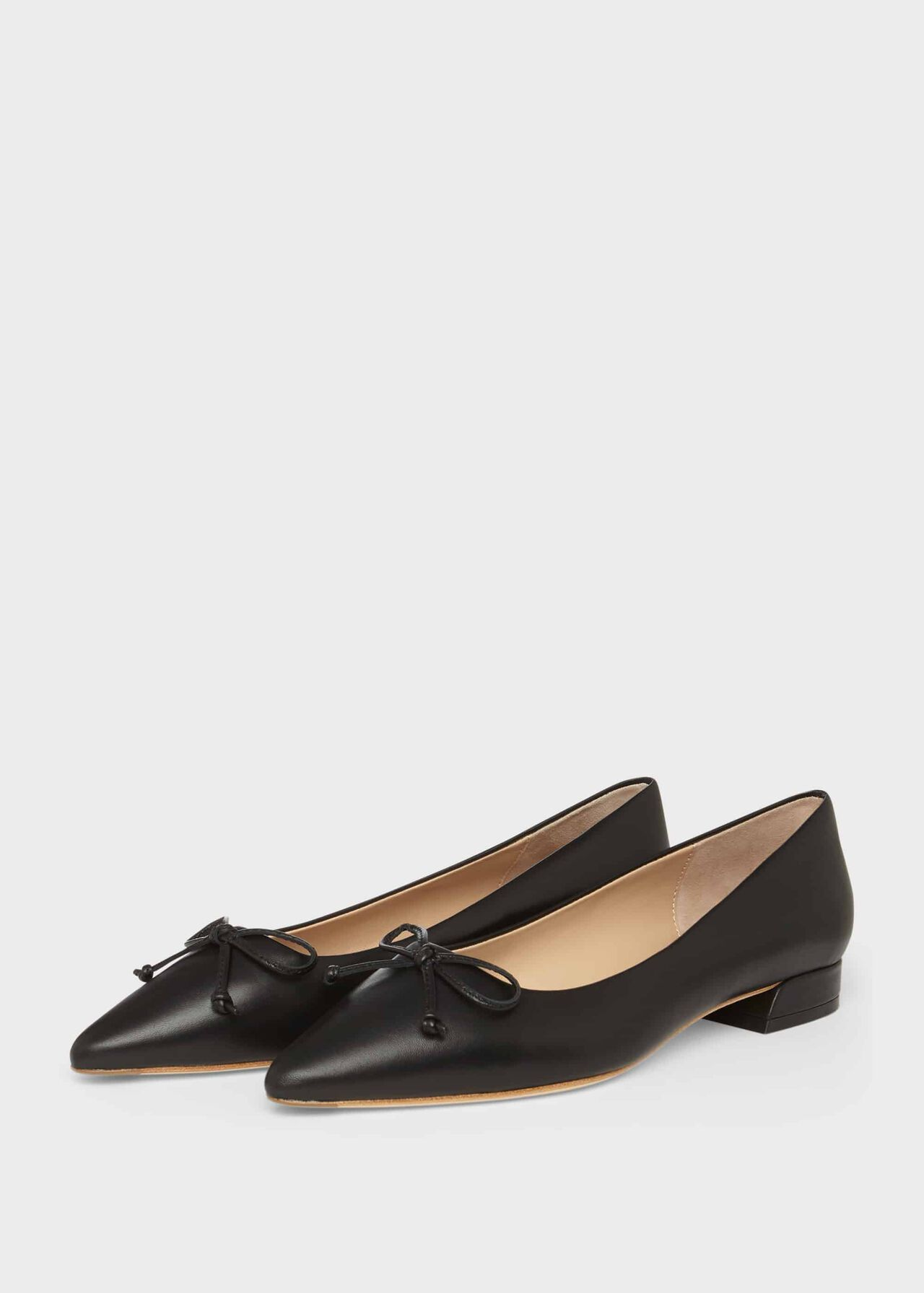 Kayley Leather Ballerinas Black