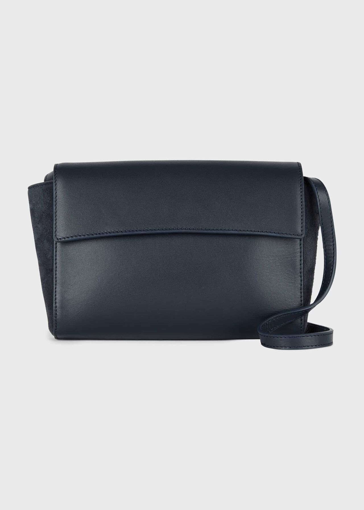 Soho Leather Cross Body Bag, French Navy, hi-res