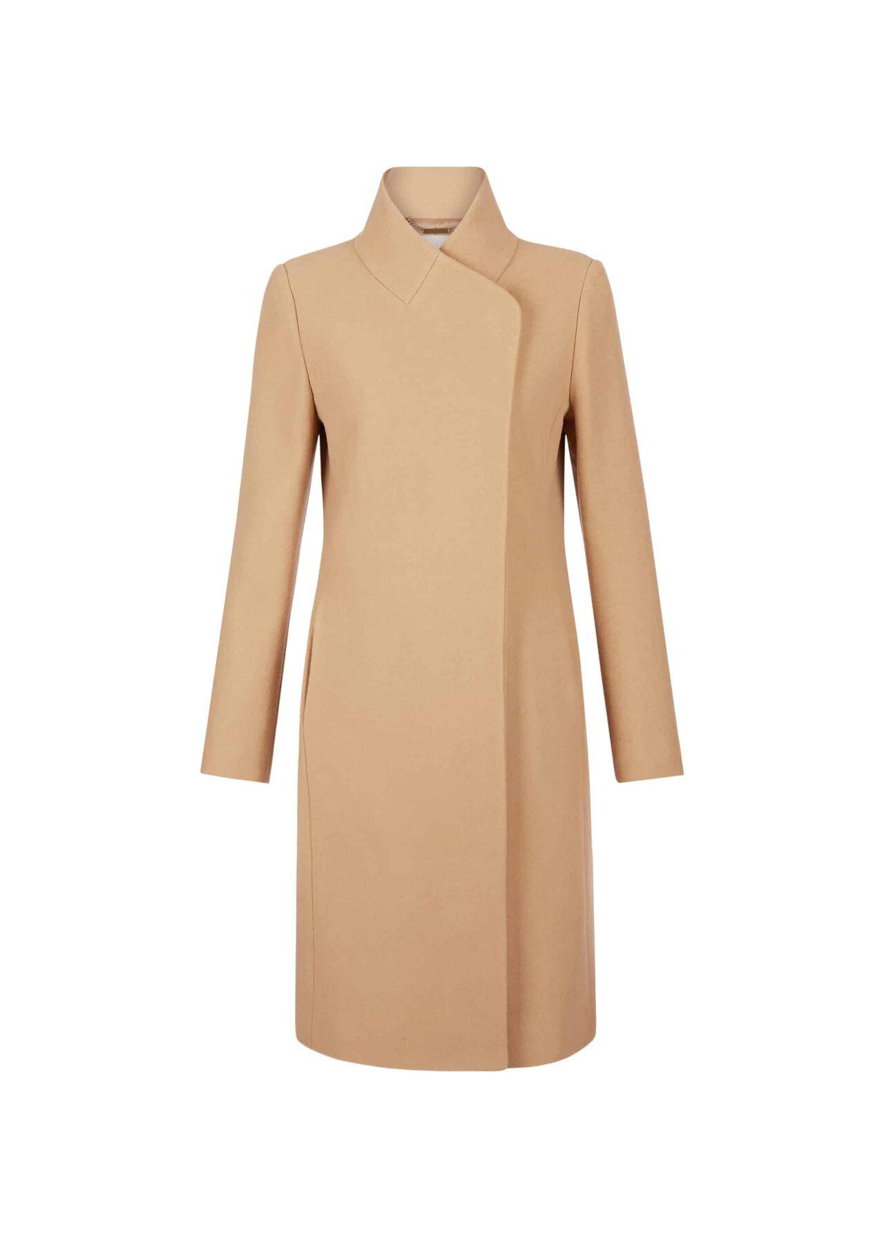 Petite Romy Wool Blend Coat Camel