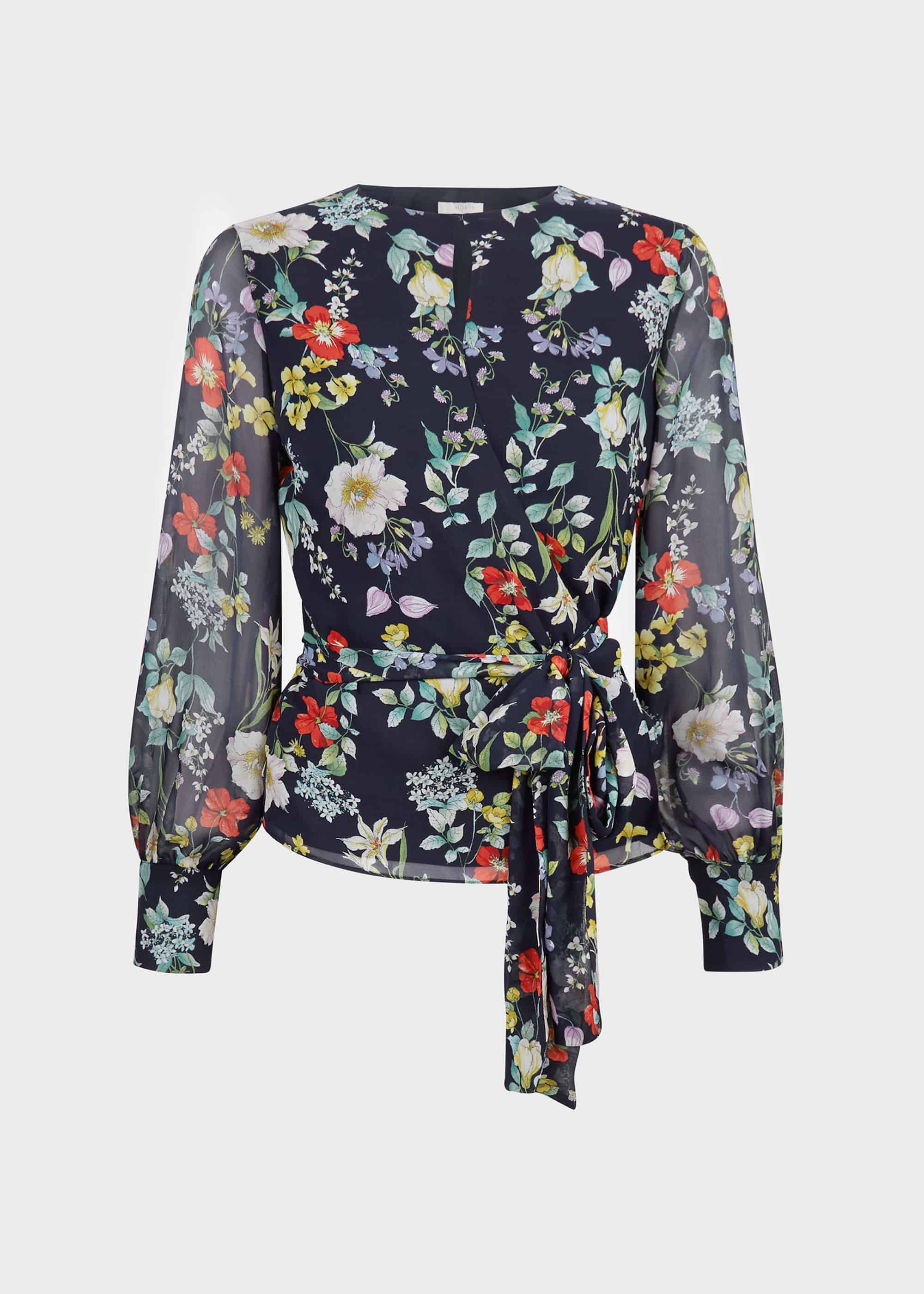 New Womens Linen Blend Flax Long Sleeve Shirts Casual Floral Crew Neck Large Sz