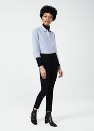 Estee Stripe Shirt, Blue White, hi-res