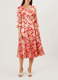 Justina Dress, Red Pink, hi-res