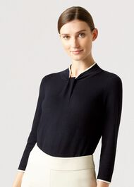 Everley Sweater, Navy Ivory, hi-res