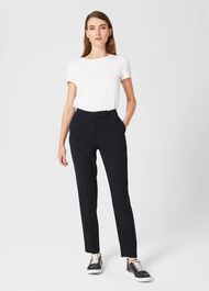 Abigail Tappered Trousers, Navy, hi-res