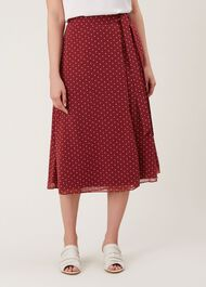 Julie Skirt, Burgundy Ivory, hi-res