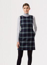 Robbie Wool Dress, Navy Multi, hi-res